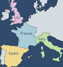 Map Of England France And Spain.Ihi Independent Hotel Directory Small Hotels With Character