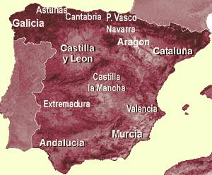 Map Of Spain Near Murcia.Small Independent Hotels In The Middle Of Spain